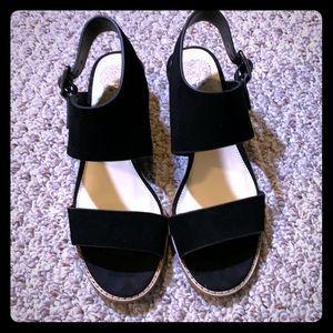 Vince Camuto NWB Black Suede Sandals